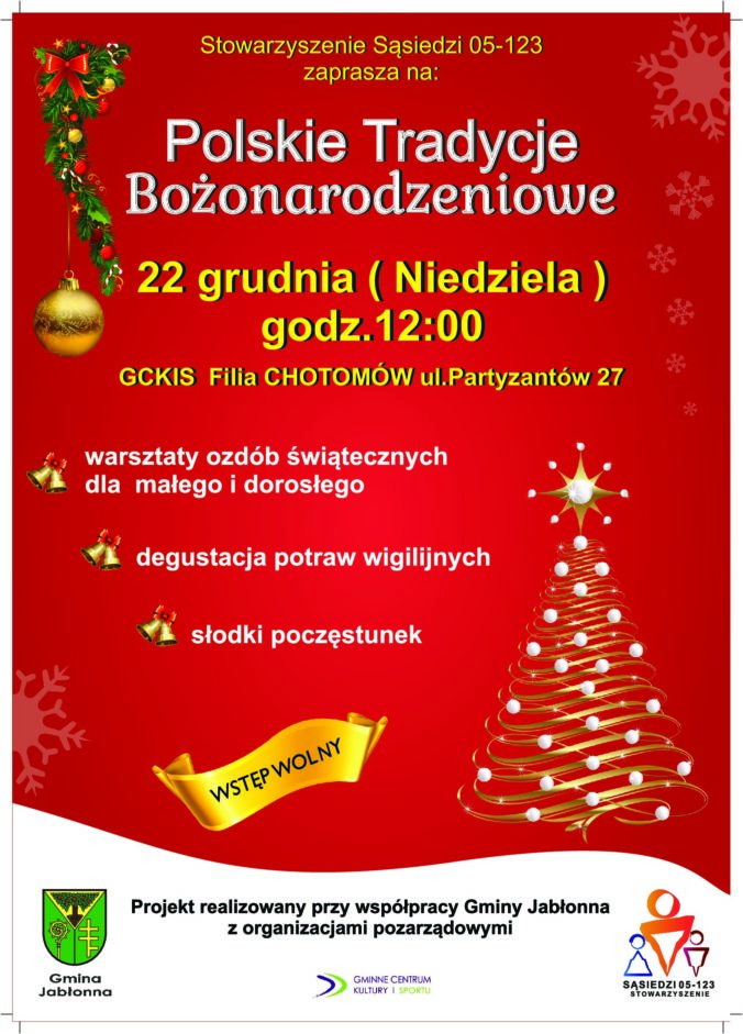 Polskie tradycje bożonarodzeniowe - warsztaty ozdób świątecznych